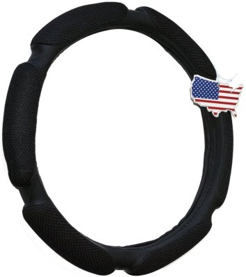 Steering Wheel Cover - Black, Odorless, Cooler Hands In Summer, Warmer Hands In Winter