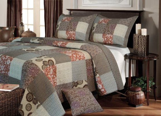 Greenland Home Fashions Stella Quilt Set,
