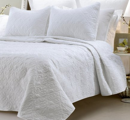 Multiple Sizes - Oversized-3pc Quilted Coverlet Set