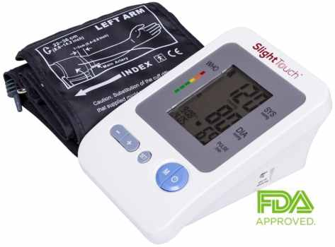 Slight Touch ST-401 Automatic Upper Arm Blood Pressure Monitor with Case and Batteries