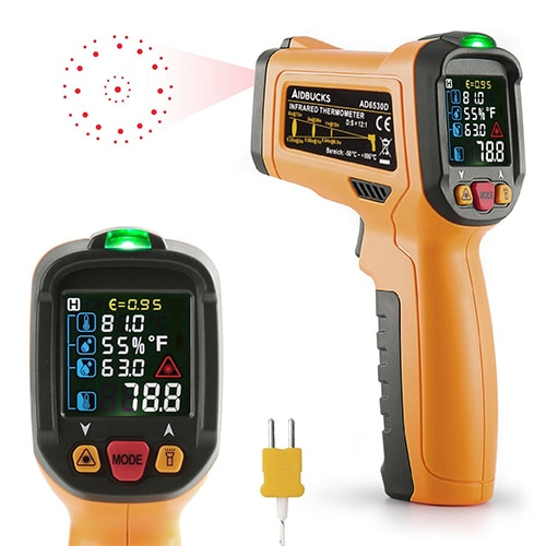Infrared Thermometer Janisa AD6530D Digital Laser