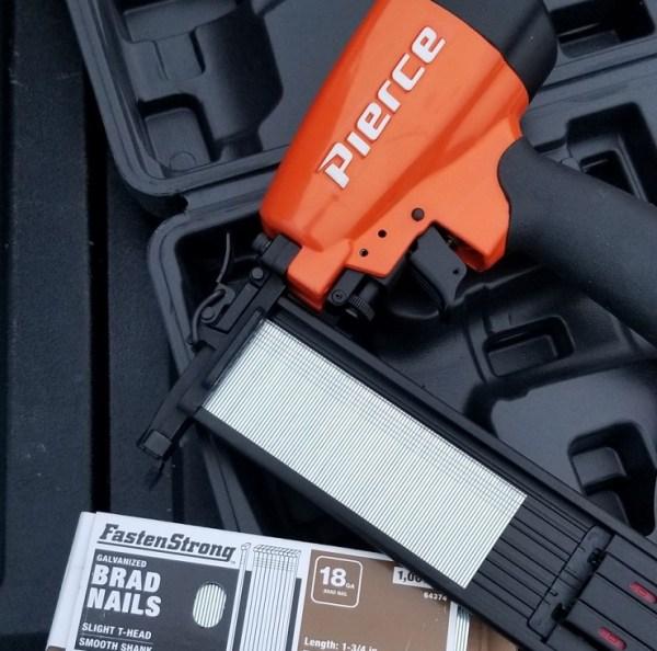 Nail strip loaded in Pierce Nail Gun