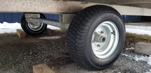 Snowmobile Trailer Axle and Tire/Rim Replacement (RUSTED)