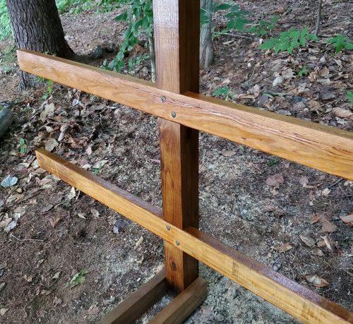 Dark Walnut Wood Stain Kayak Rack Build