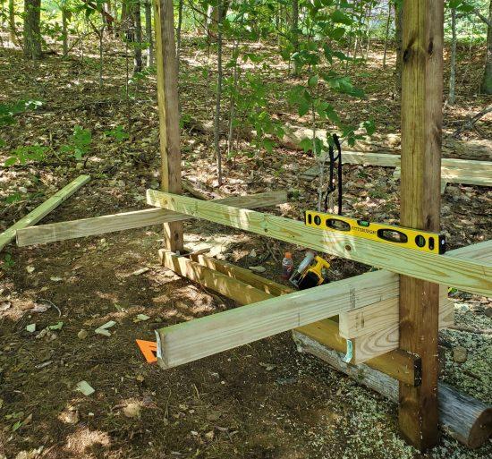 Wood Construction Kayak Rack