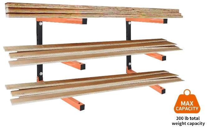 Wall Mounted Lumber Storage Rack