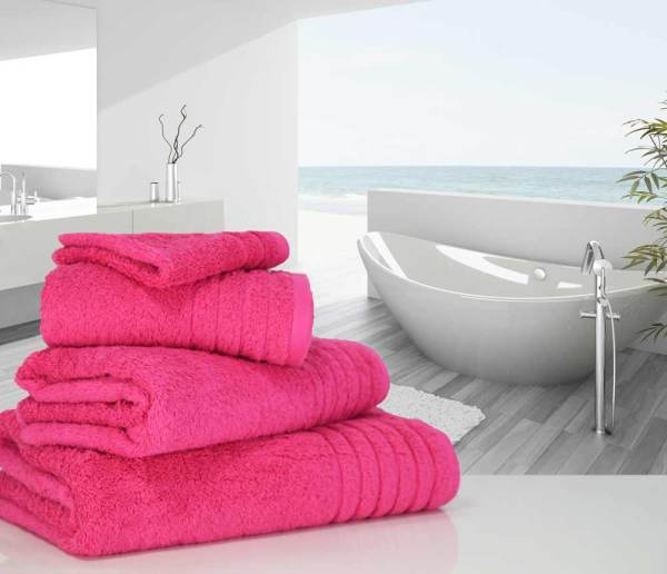 Hot Pink Hand Bath Towels