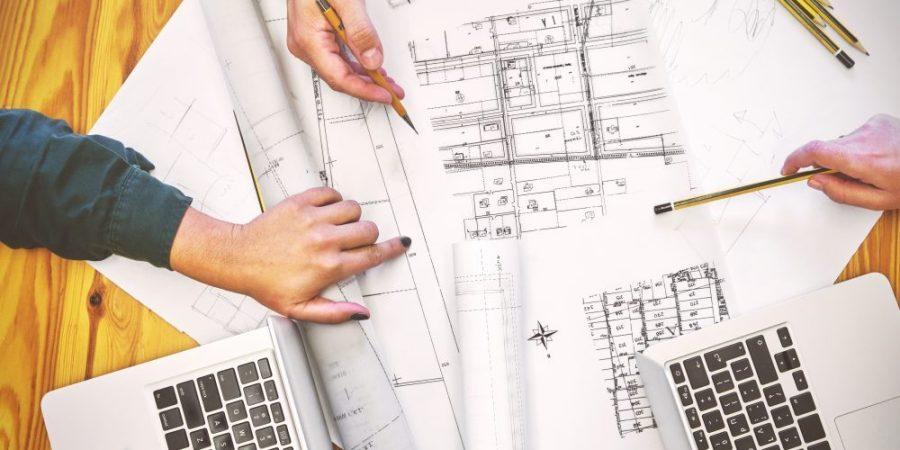 architetto al lavoro