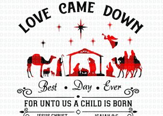 Download Love Came Down Best Day Ever For Unto Us A Child Is Born ...