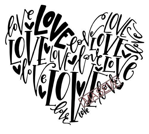 Download Love Heart svg, Hand Lettered Love svg, Valentine's Day ...