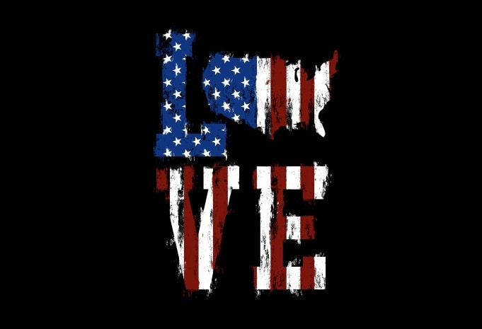 Download Love American Flag - American Illustration With SVG t ...