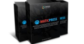 MaticPress Review (Unlimited Sites) How to Prepare Content for Website Automatically