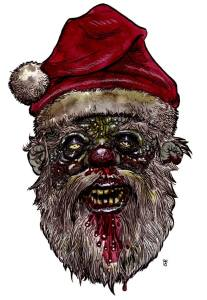 He doesn't care if you've been naughty or nice...he only wants you to sit on his lap so he can pick your brain a bit.