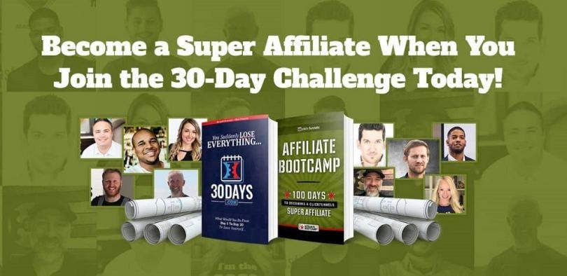 devenir super-affilié en 100 jours en affiliation clickfunnels avec affiliate BootCamp de Russell Brunson