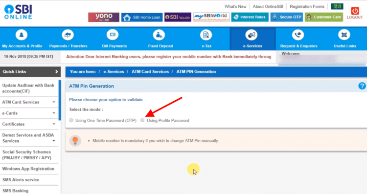 choose the option to validate