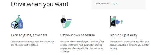 driving uber make money