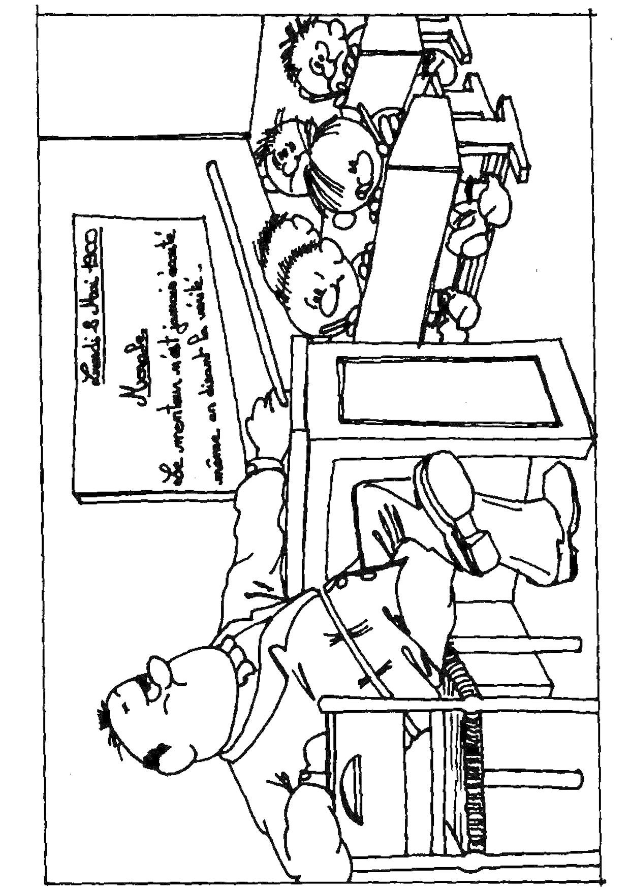 s dessin coloriage de classe d ecole a imprimer l dessincoloriage