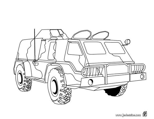 8 dessins de coloriage A Imprimer Tank Militaire à imprimer