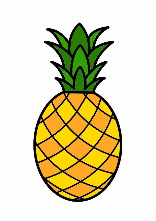 S Coloriage Ananas L