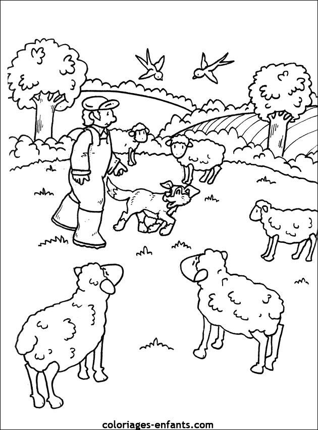 Coloriage Tracteur Et Vache