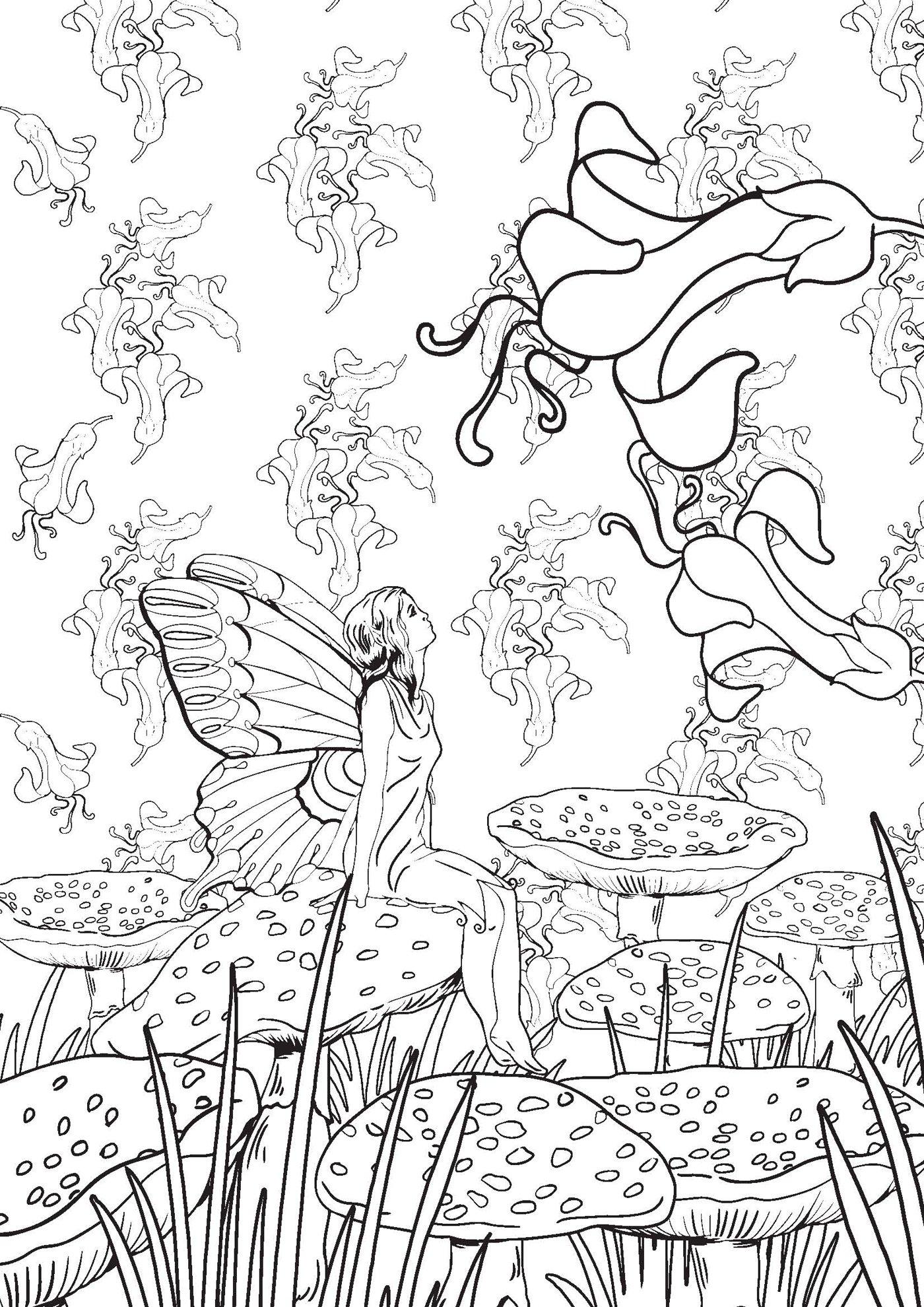 dessin à colorier anti stress mille et une nuit