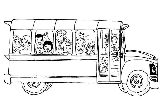 coloriage  dessiner du bus magique