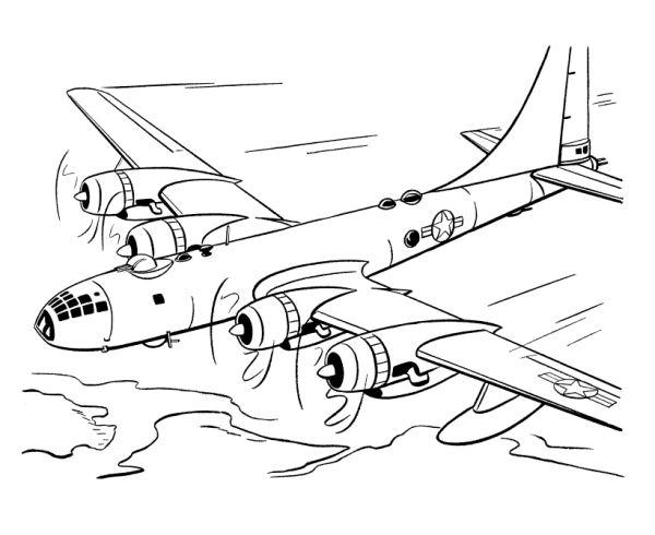 6 dessins de coloriage Avion De Course à imprimer