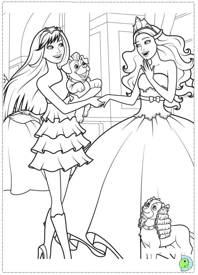 Barbie Princess Pop Star Coloring Pages Printable