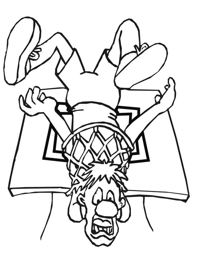 dessin à colorier basketball tony parker