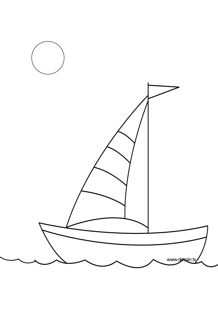 coloriage bateau du vendée globe