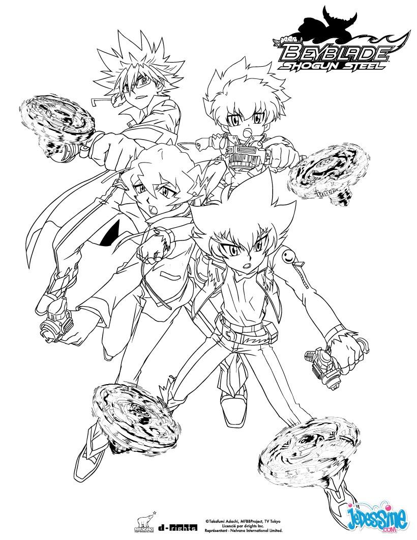 16 dessins de coloriage Beyblade Shogun Steel à imprimer