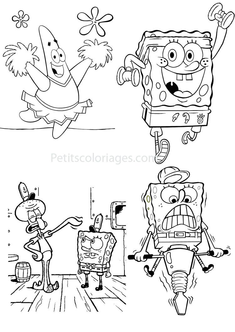 18 Dessins De Coloriage Bob Lponge Et Patrick Imprimer