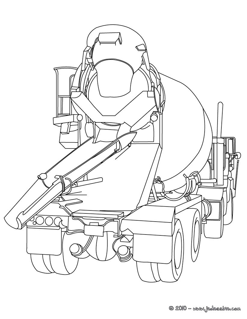 20 dessins de coloriage Camion Transporteur à imprimer