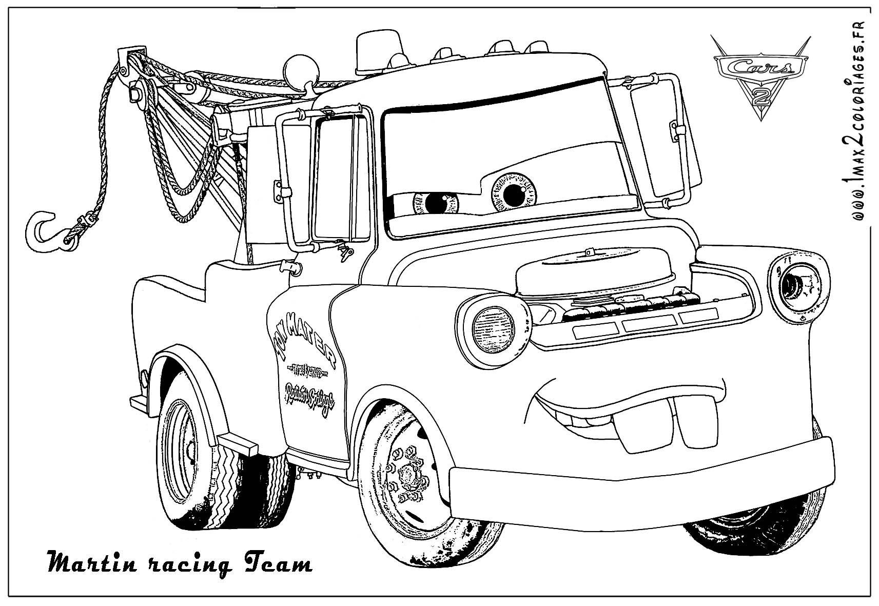 121 dessins de coloriage Cars à imprimer