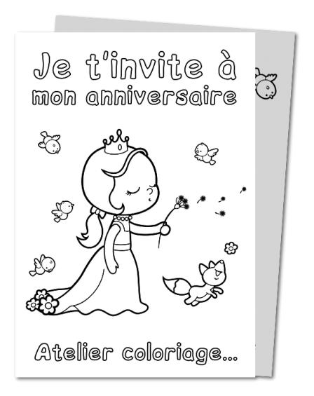 carte dinvitation anniversaire a