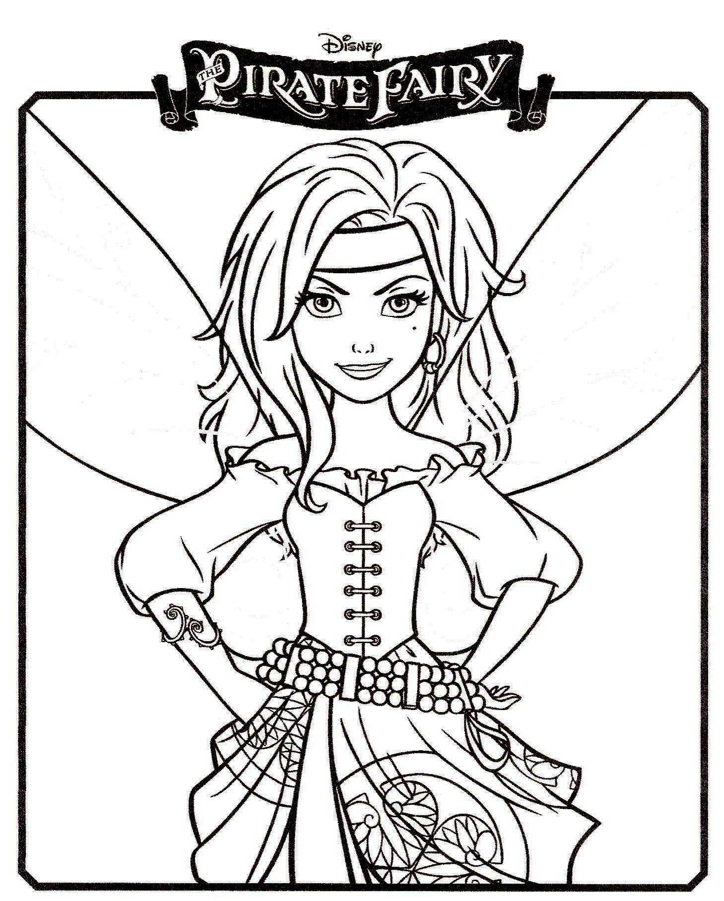 19 dessins de coloriage Clochette Fée Pirate à imprimer
