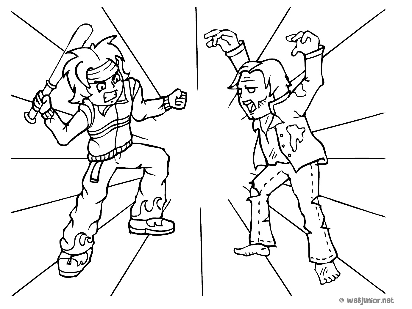 dessin de combat de catch