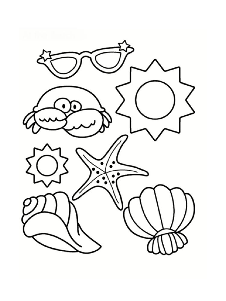 18 dessins de coloriage Coquillage à imprimer