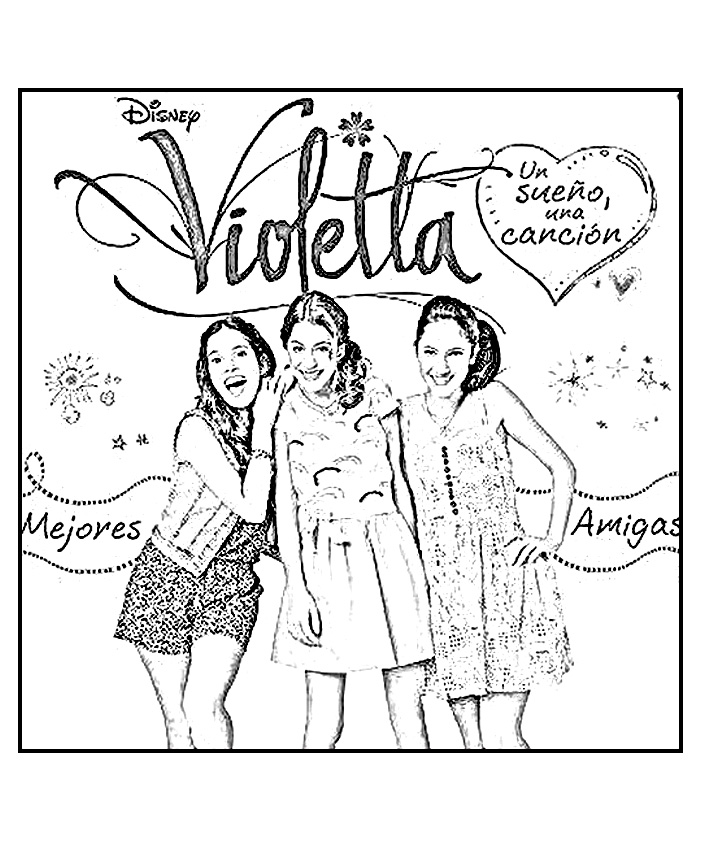 16 dessins de coloriage Disney Channel Violetta à imprimer