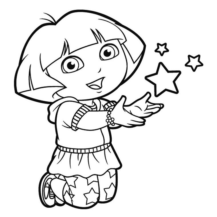 20 dessins de coloriage Dora Princesse à Imprimer à imprimer