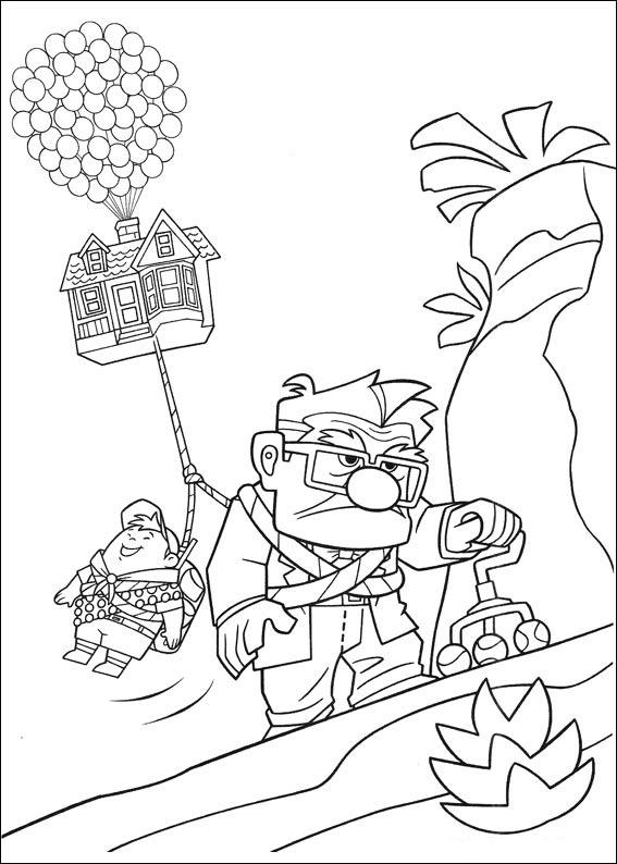 20 dessins de coloriage Du Dessin Animé La-haut à imprimer