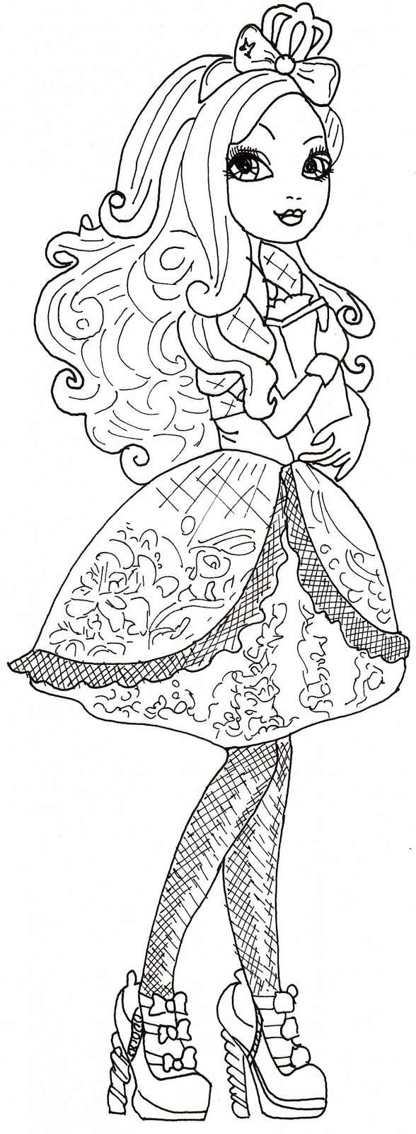14 dessins de coloriage Ever After High Apple White à imprimer