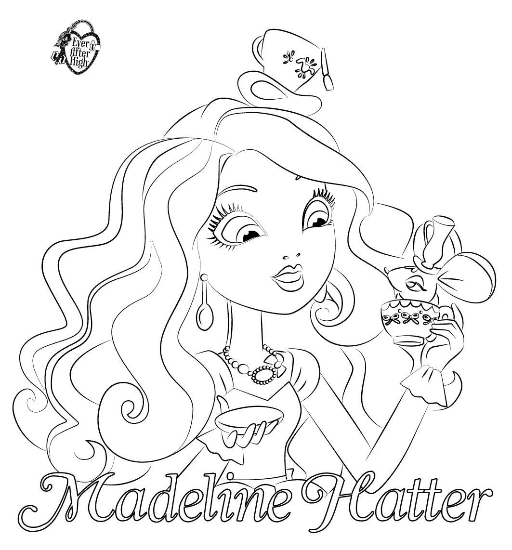 16 dessins de coloriage Ever After High Madeline à imprimer