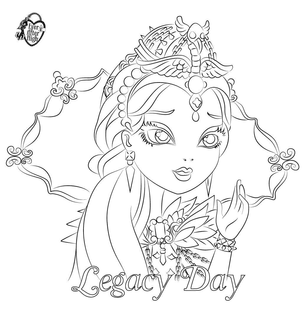 13 dessins de coloriage Ever After High Raven Queen à imprimer