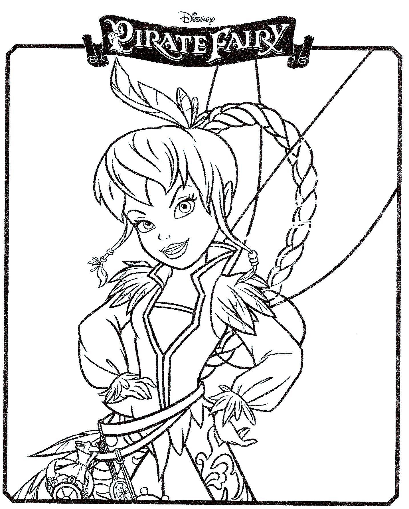 20 dessins de coloriage Fée Clochette Et Les Pirates à