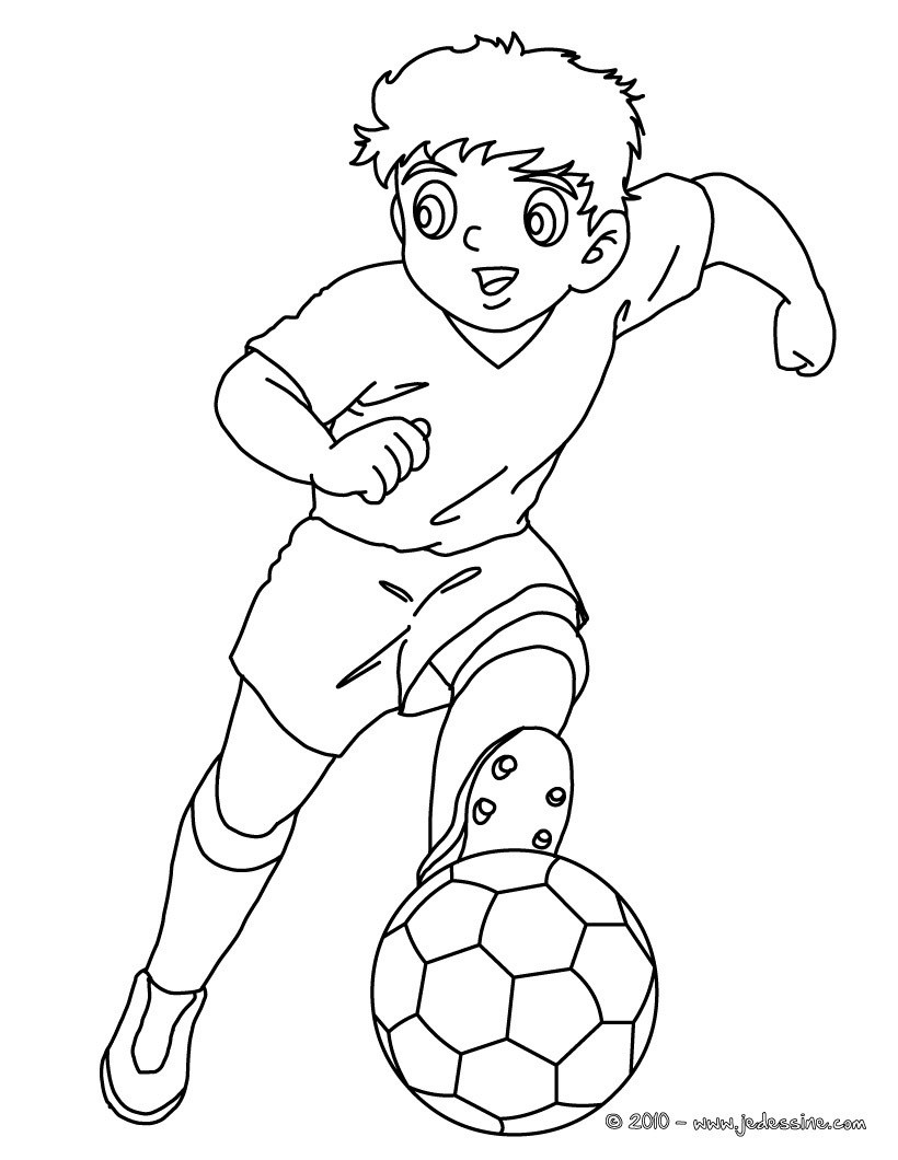 coloriage à dessiner footballeur imprimer