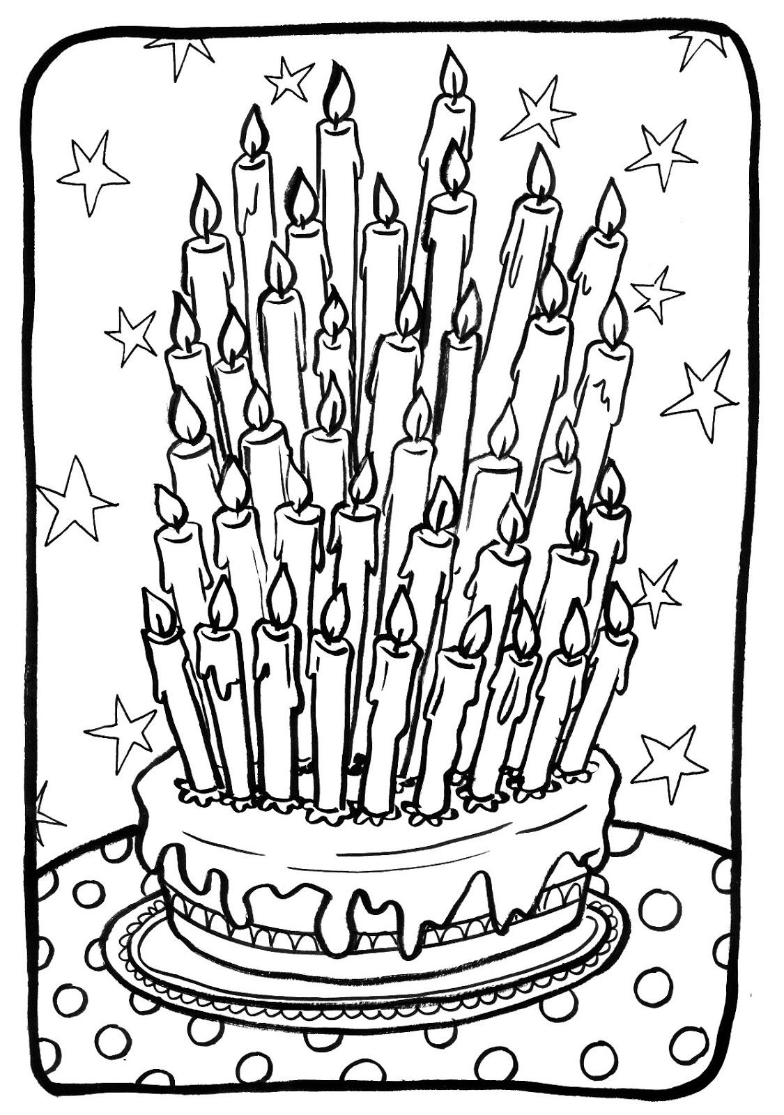 20 dessins de coloriage Gateau Anniversaire à imprimer