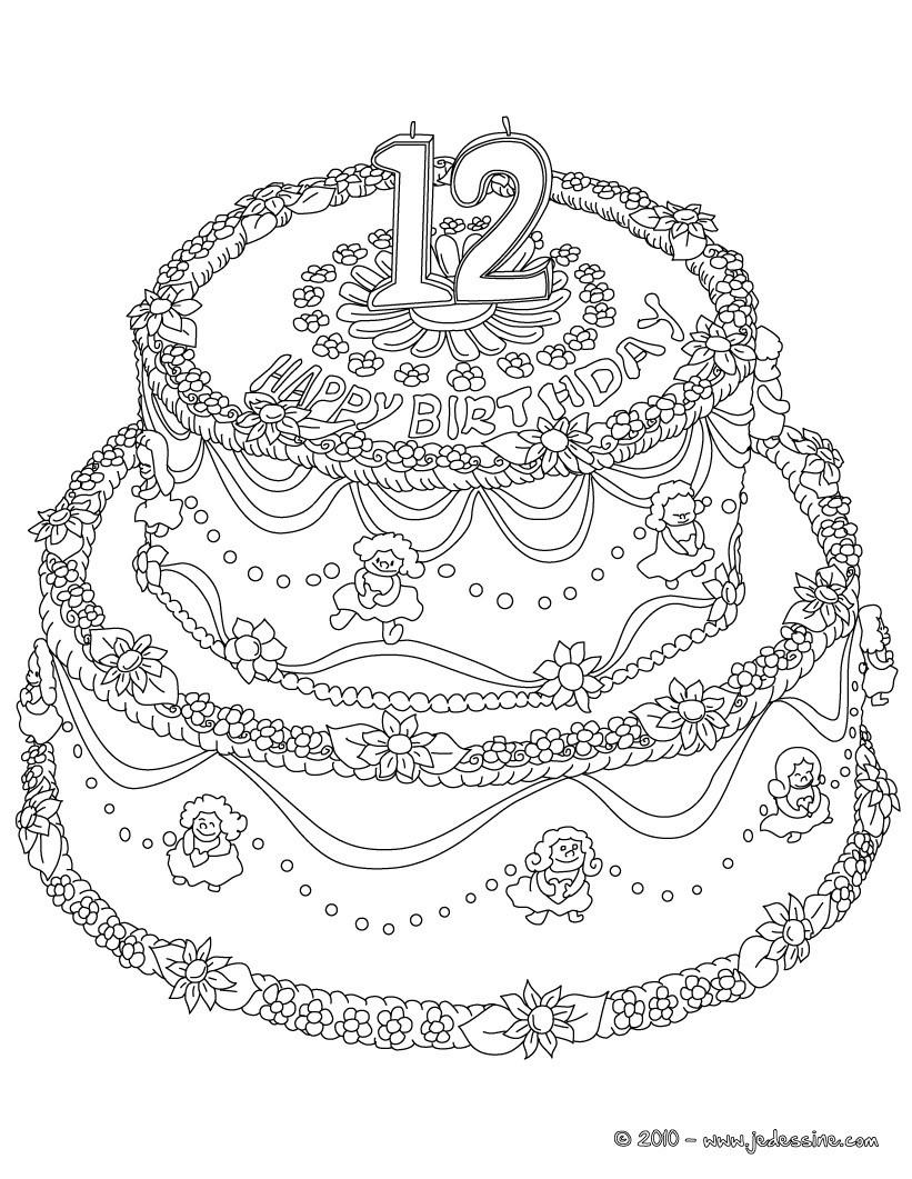 30 dessins de coloriage Gâteau à imprimer