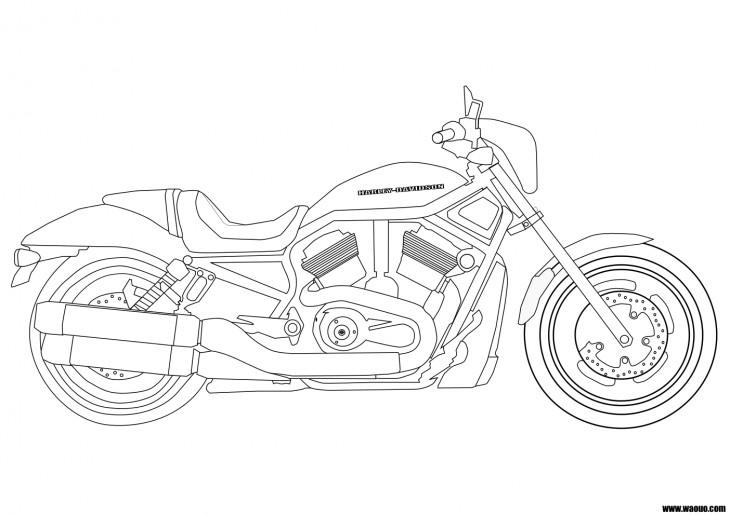 coloriage moto harley davidson