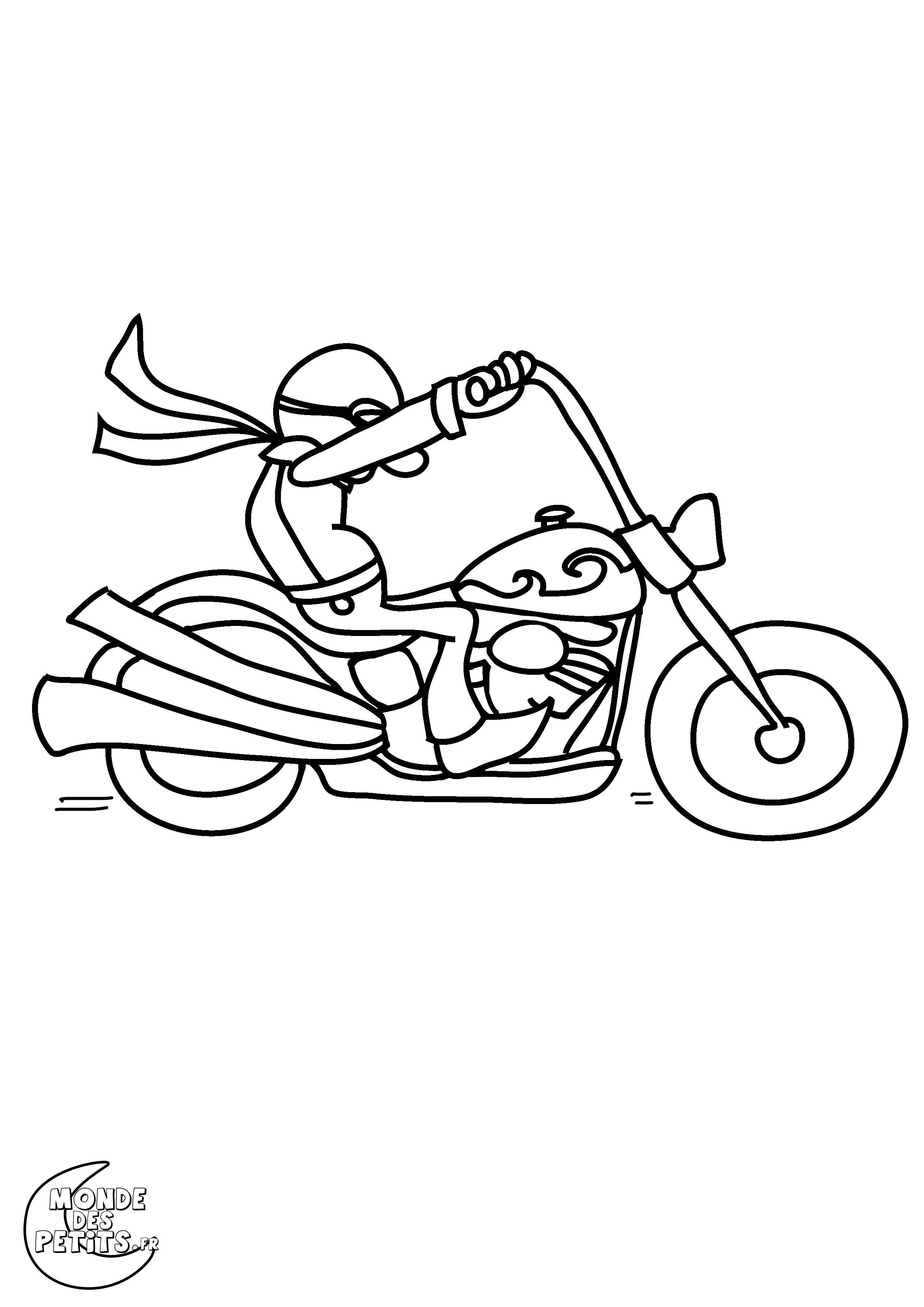 19 dessins de coloriage Harley Davidson à imprimer